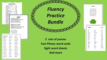 95 Bundled Fluency Poems common core aligned