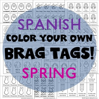 208 Brag Tags for Spring and Easter in Spanish