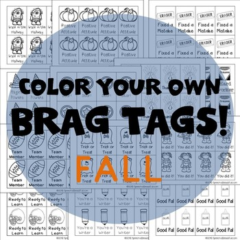 208 Brag Tags for Fall in English