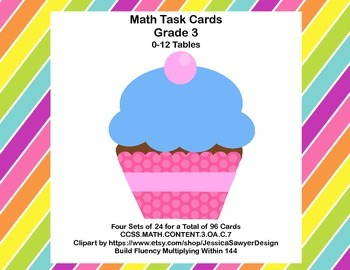 96 Math Task Cards for Third Grade CCSS.MATH.CONTENT.3.OA.C.7
