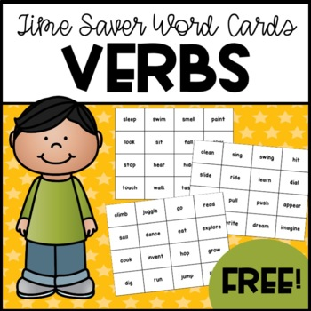 96 Verb Time-Saver Word Cards