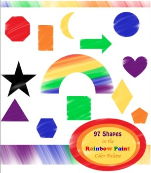 97 Clip Art Shapes in the Rainbow Paint Palette for person