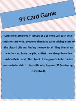 99 Card Game