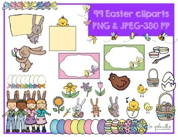 99 Easter Cliparts {Spring} [Personnal and commercial use]