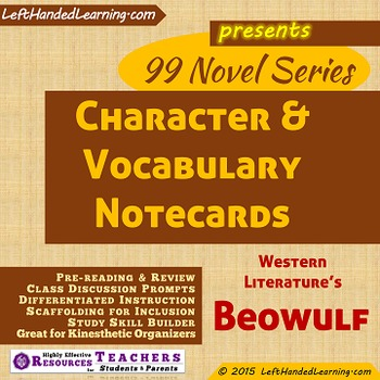 {99 Novel} Beowulf of Ancient Western Lit Character & Voca