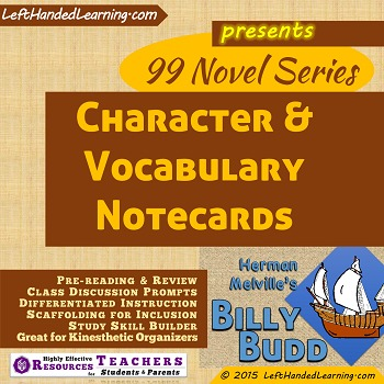 {99 Novel} Character & Vocabulary Notecards for Billy Budd