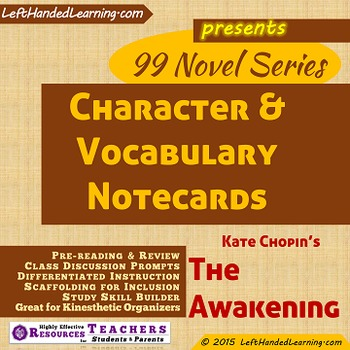 {99 Novel} The Awakening by Kate Chopin Character & Vocabu