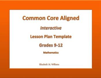 9th - 12th Grade Common Core Interactive Math  Lesson Plan