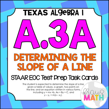 A.3A: Determining the Slope of a Line STAAR EOC Test-Prep