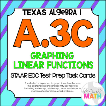 A.3C: Graphing Linear Functions STAAR EOC Test Prep Task C