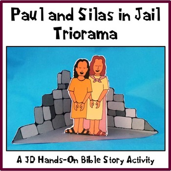 Paul and Silas in Jail Triorama Bible Craft