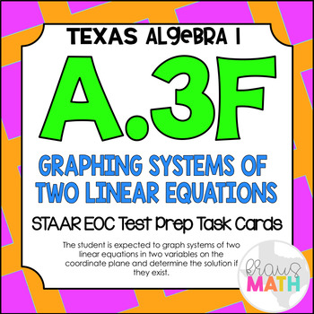 A.3F: Graphing Systems of Two Linear Equations STAAR EOC T