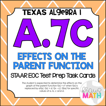 A.7C: Effects on the Parent Function STAAR EOC Test Prep T