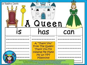 A+ FREEBIE: A Queen... Three Graphic Organizers