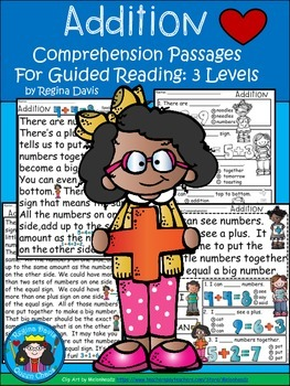 A+ Addition Comprehension:Differentiated Instruction For G
