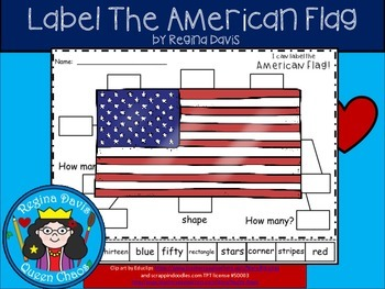 A+ American Flag Labels