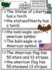 A+ American Symbols Sentence Structure Circles: 2 Levels