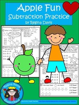 A+  Apple Fun: Subtraction Practice