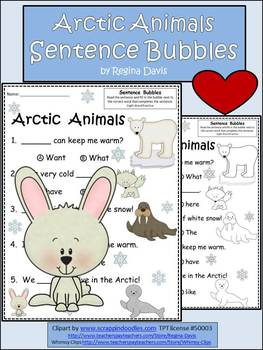 A+ Arctic Animals:Fill In the Blank.Multiple Choice Sight
