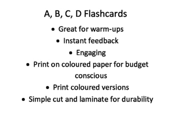 A B C D multiple choice feedback flashcards