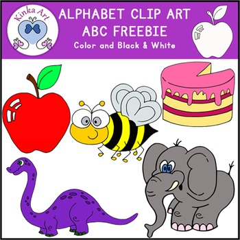 A B C Letter Clip Art {Beginning Sounds} Alphabet FREEBIE