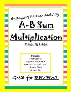 A-B Sum Multiplication (2 digit by 2 digit) Game