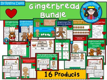 A+  BUNDLED Gingerbread Pack...Language Arts and Math Comb
