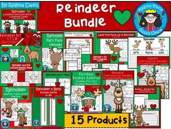 A+  BUNDLED Reindeer Pack...Language Arts and Math Combina