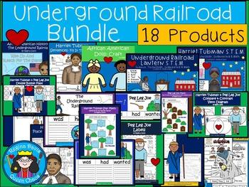 A+  BUNDLED Underground Railroad...Language Arts and Math