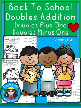 A+ Back To School! Doubles Addition: Doubles Plus One, Dou