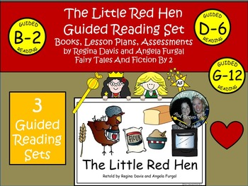 A+ Little Red Hen Guided Reading Set-3 Books, Lesson Plans