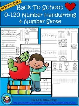 A+ Back To School: 0-120 Math Handwriting & Number Sense