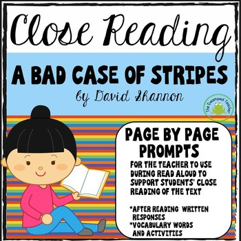A Bad Case of Stripes - Close Reading - Page by Page Promp