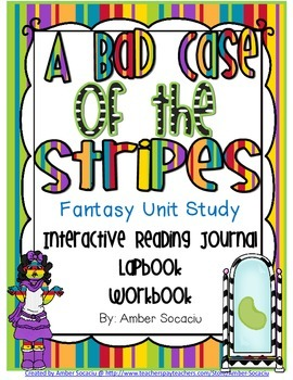 A Bad Case of the Stripes for Interactive Notebooks or Lapbooks