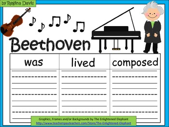 A+  Beethoven... Three Graphic Organizers