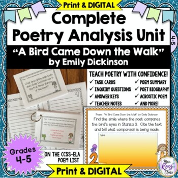 """""""A Bird Came Down the Walk"""" by Emily Dickinson * Poetry Analysis"""
