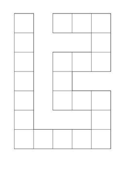 A Blank Game-board Template-Let your students make their o