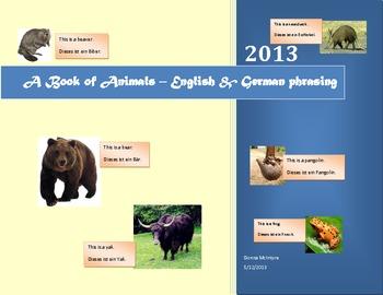 A Book of Animals - English & German phrasing
