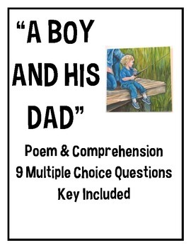 """""""A Boy and His Dad"""" poem, middle school, Father's Day, poe"""