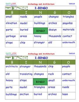 A Brilliant -  I-BINGO – Archeology and Architecture-  Int