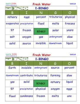 A Brilliant -  I-BINGO – Fresh Water - Interactive BINGO