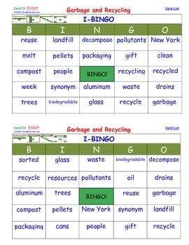 A Brilliant -  I-BINGO – Garbage and Recycling - Interacti