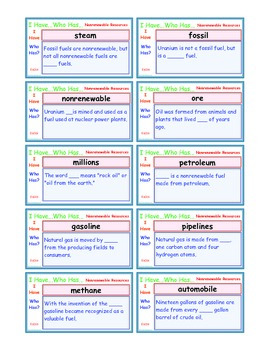 A Brilliant -  I Have Who Has 30 Card Set – Non Renewable