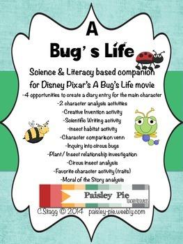 SCIENCE: A Bug's Life- A Science & Literacy Based Movie Companion
