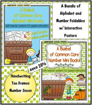 A Bundle of Alphabet and Number Foldables With Interactive
