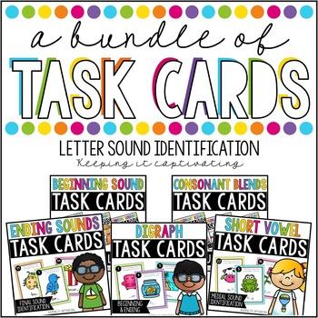 A Bundle of Task Cards for Letter Sound Identification