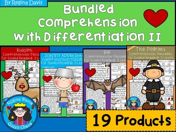 A+ Bundled Comprehension Passages...Guided Reading 2: Diff
