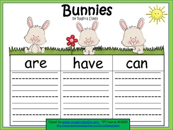 A+  Bunnies... Three Graphic Organizers