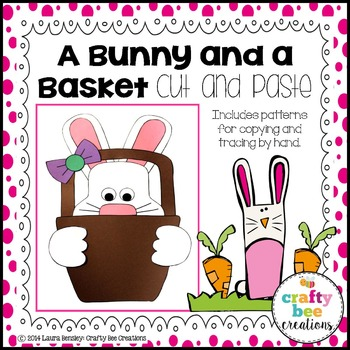 A Bunny and a Basket Cut and Paste