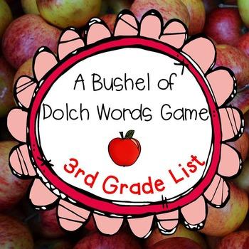 A Bushel of Dolch Words Game 3rd Grade Set